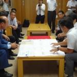 7月17日 : 大田区長へ経過報告と協力要請
