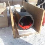 2月27日:アメリカに輸送された下町ボブスレーを木枠から出す