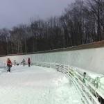 全日本選手権2本目滑走前のコース側道