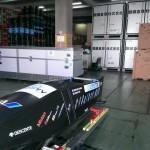 倉庫で保管される2号機