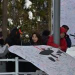 マミフラワーデザインスクールの応援幕
